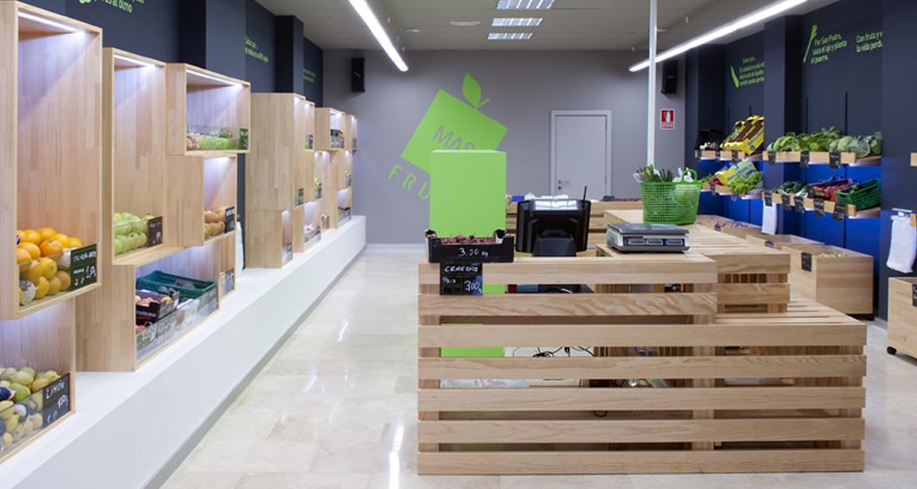 diseño, interior, mas fruta, interiorismo, fruteria, Celanova, Ourense Galicia